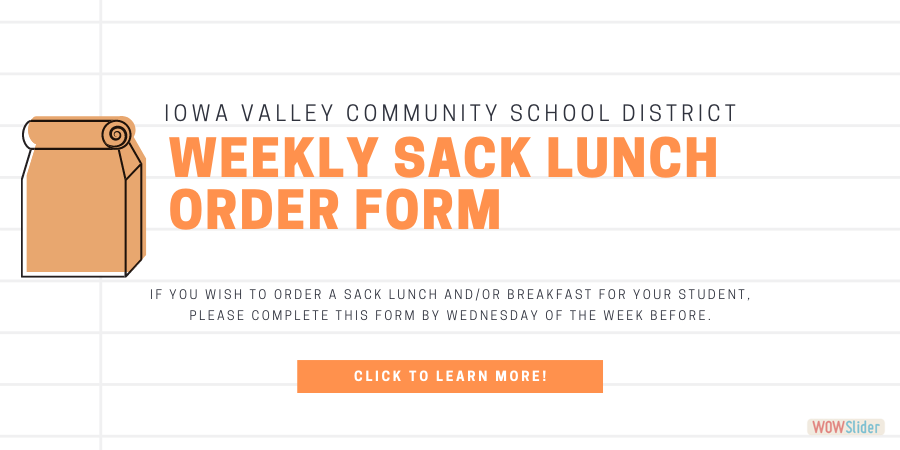 Click here to order your student's sack lunch/breakfast!